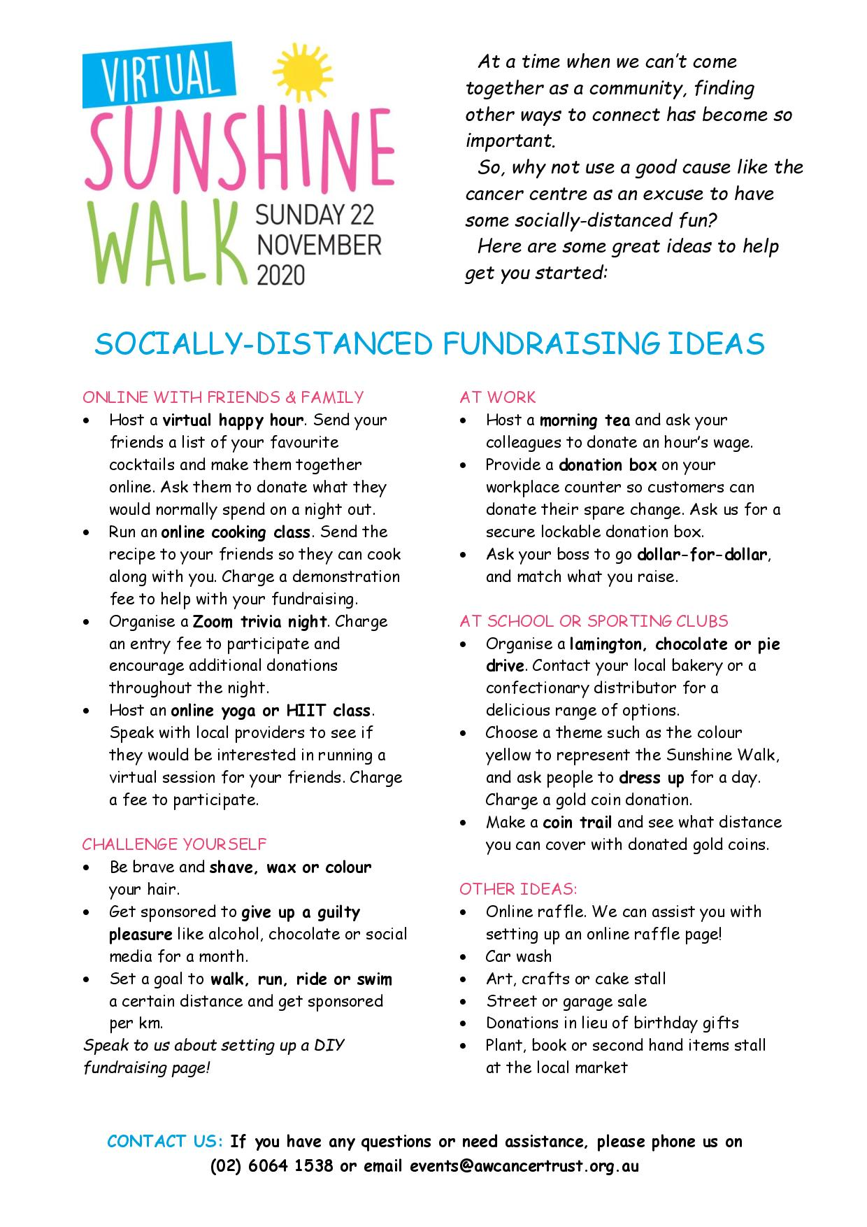 Socially-Distanced Fundraising Ideas